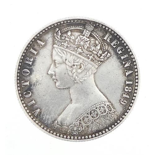 166 - Queen Victoria 1849 florin...
