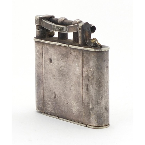 51 - Dunhill silver plated combination lighter/compact, 6cm high...