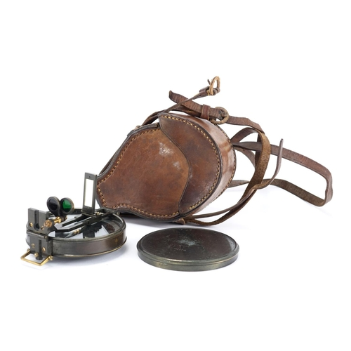 27A - Stanley scientific instrument with tan leather case numbered 2176...