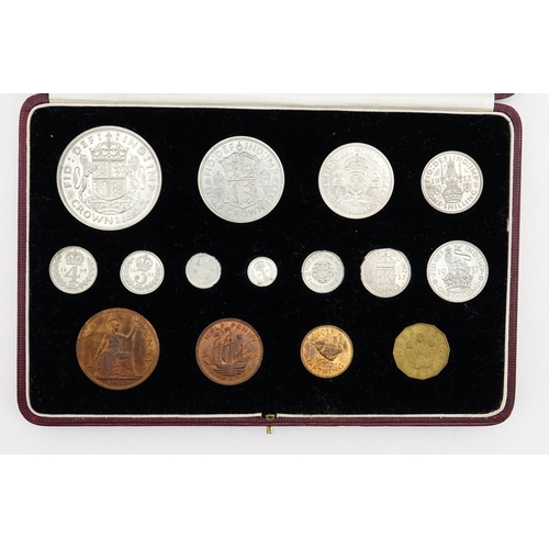 159 - George VI 1937 specimen coin set, by The Royal Mint with fitted silk and velvet lined tooled leather...