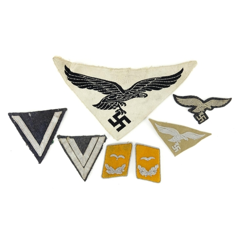 Group of German Military interest cloth patches and epaulettes