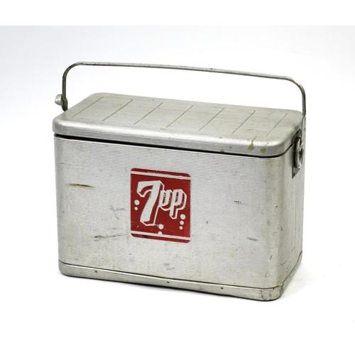 2050 - Vintage 7-Up ice cooler, 35.5cm H x 51cm W x 27cm D...