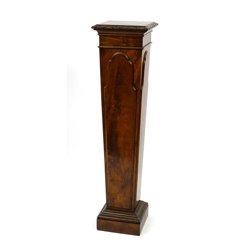 2037 - Flame mahogany torchiere, 122cm H x 30cm W x 30cm D...
