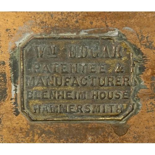 2029 - William Edgar vintage copper street lantern, 80cm high...