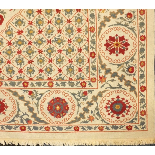 2055 - Rectangular Afghan Suzani design rug, 365cm x 250cm...