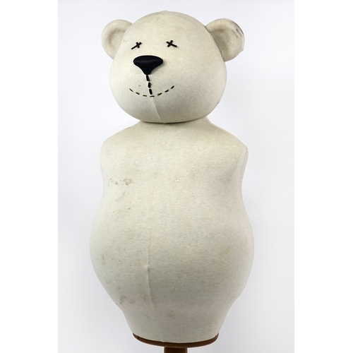 2008 - Novelty teddy bear mannequin with pine base, 155cm high...