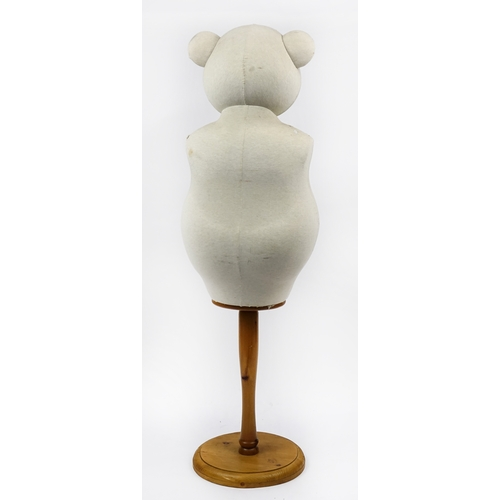 2008 - Novelty teddy bear mannequin with pine base, 155cm high...