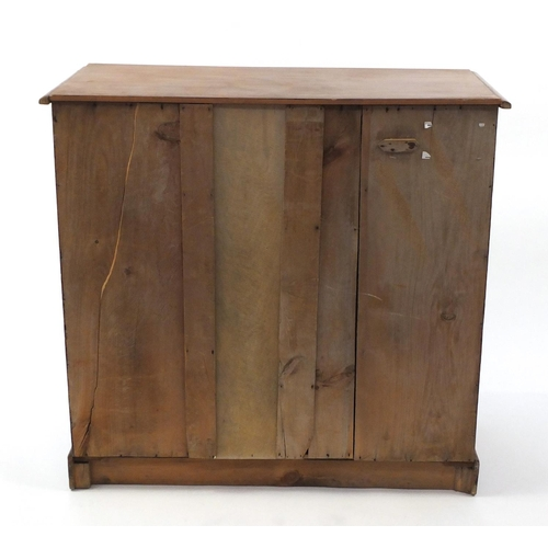4 - Pine five drawer chest, fitted with two short above three long drawers, 92cm H x 94cm W x 45cm D...
