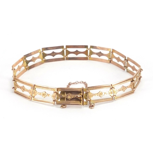 2357 - Victorian 9ct gold bracelet, 18cm in length, approximate weight 5.5g...