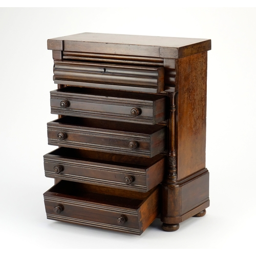 29 - Victorian mahogany chest of small proportions, in the form of a Scottish chest of drawers, 38cm H x ...