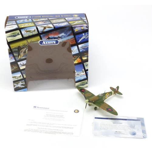 117 - Franklin Mint Westminster Collection spitfire, with certificate and box...