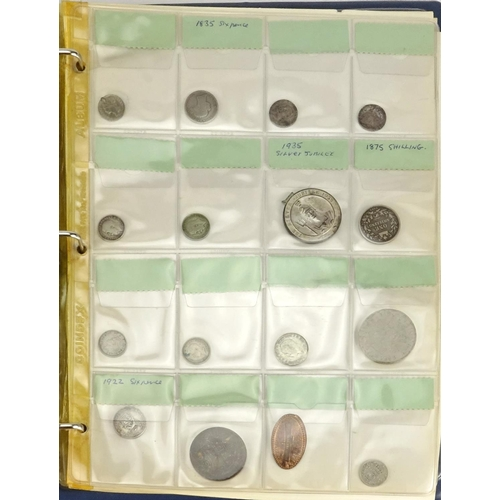 140 - Antiquarian and British coinage, some Roman including two William III six pence's, Elizabeth I 1583 ...
