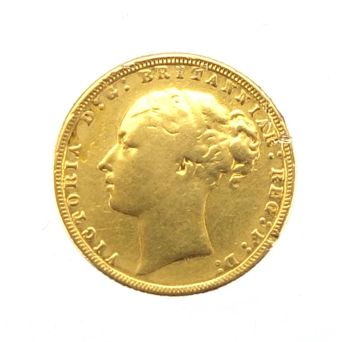144 - Victoria Young Head 1872 gold sovereign...