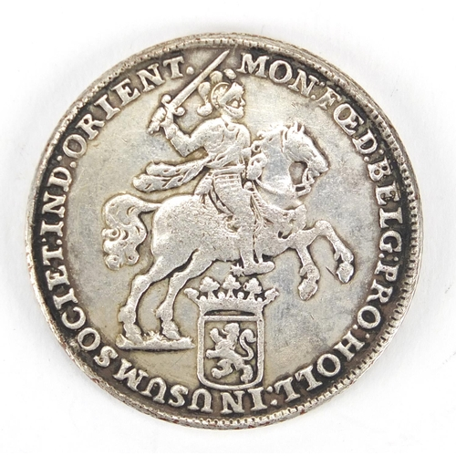 156A - Dutch 1739 Ducaton silver coin, approximate weight 31.4g...