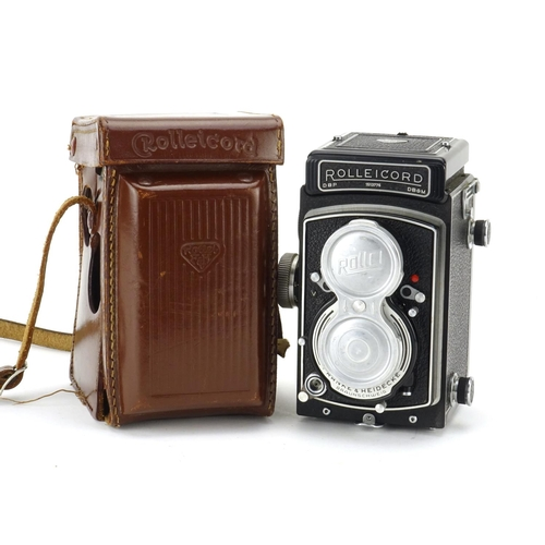 106 - Rolleicord camera by Frank & Heidecke, serial number 1513776 with leather case...