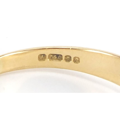 654 - 18ct gold diamond solitaire ring, size W, approximate weight 5.7g...