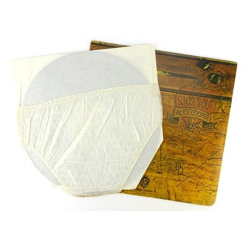 2132 - Alice Cooper School's Out vinyl LP with pants, Warner Bros records K56007...