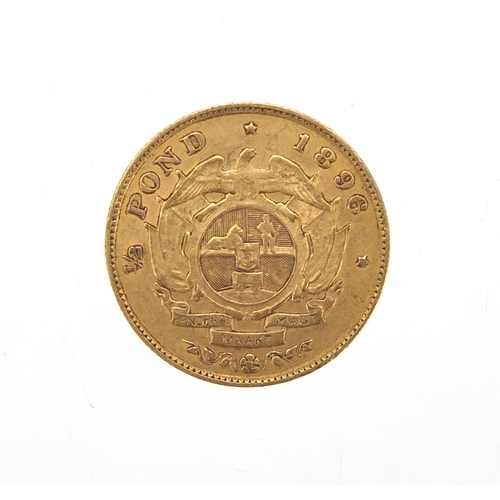 150 - South African 1896 gold half pond...