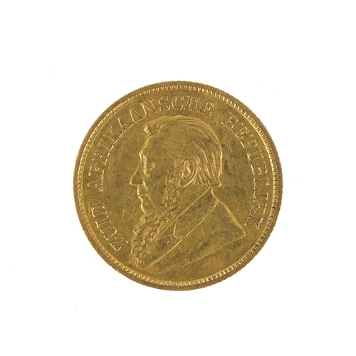 149 - South African 1895 gold half pond...