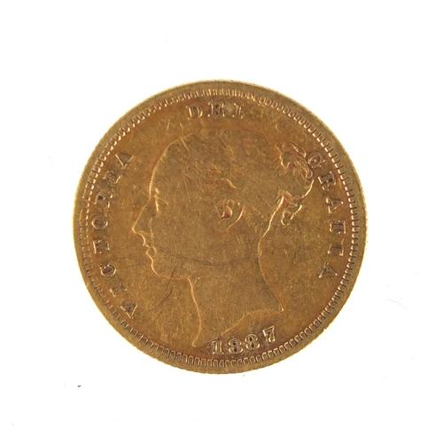 147 - Victoria Young Head 1887 gold half sovereign...
