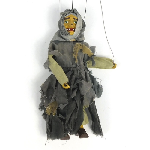 552 - Pelham puppet - Witch, number 3011, with box, 30cm high...