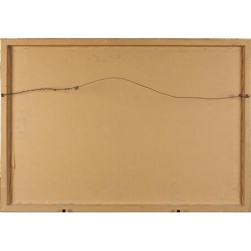 856 - S S King Alfred on choppy seas, maritime interest gouache, framed, 65cm x 43.5cm...