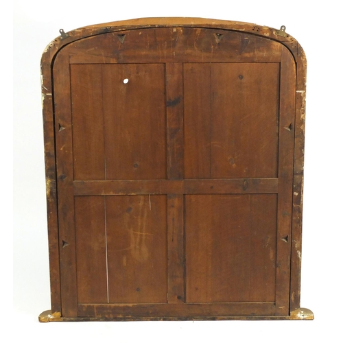 43 - Large gilt over mantel mirror frame, 133cm H x 120cm W...