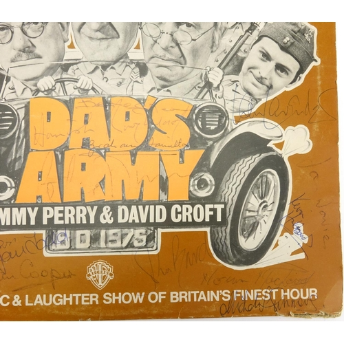 124 - Dad's Army vinyl LP signed by the cast...