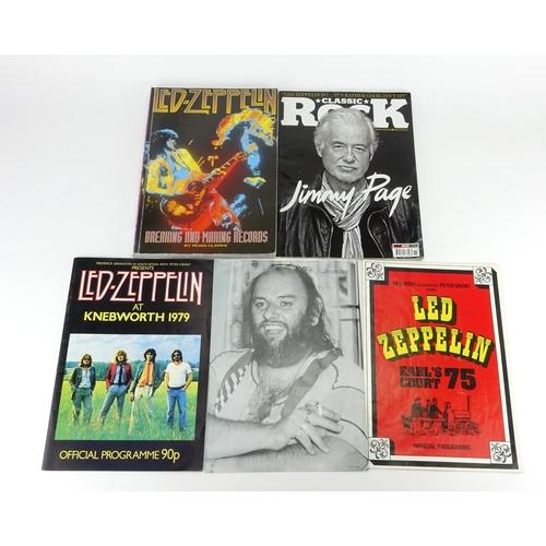 118 - Led Zeppelin ephemera including Earl's Court 1975 programme and Knebworth 1979 programme...