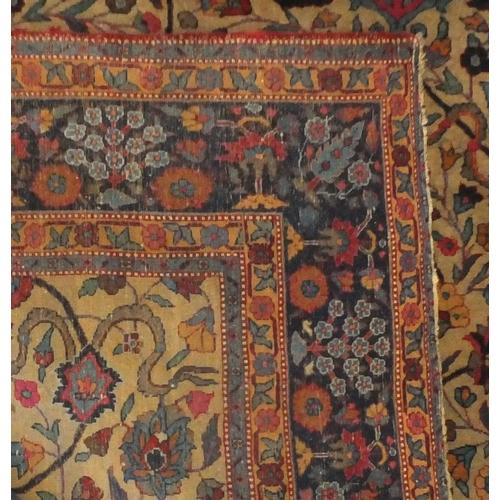2006 - Rectangular Persian carpet having all over stylised floral motifs, 386cm x 275cm...