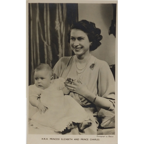 119 - Royal ephemera including a black and white photograph signed by Queen Elizabeth II and Prince Philip...