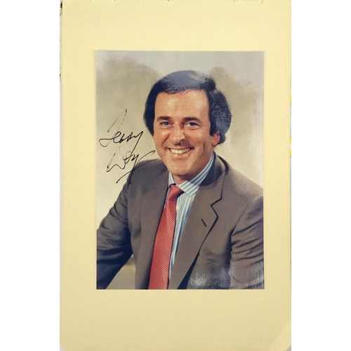 126 - Autograph album including some ink autographs by Roger Moore, David Jason, David Nixon, Terry Wogan,...