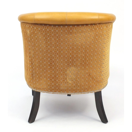 2052 - French Empire style Style Matters tub chair with leather upholstery, 86cm high...