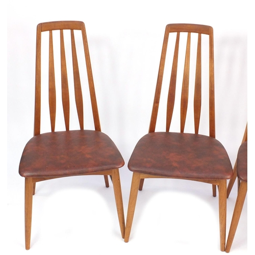 2058 - Set of four Danish teak Eva chairs by Koefoeds Hornslet, 96cm high...