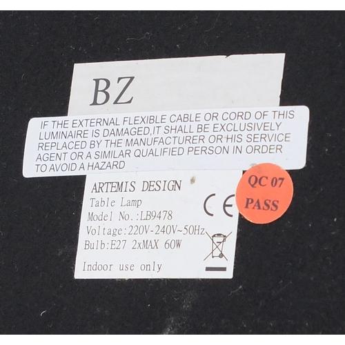 2051 - Visual Comfort Longacre table lamp with circular shade, 86cm high...