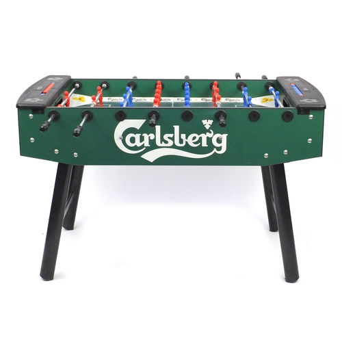 2057 - Carlsberg advertising table football, 90cm H x 147cm W x 76cm D...