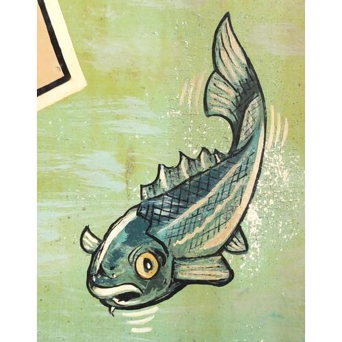2044A - Hand painted Anchor Inn pub hanging sign, 129.5cm H x 90.5cm W...