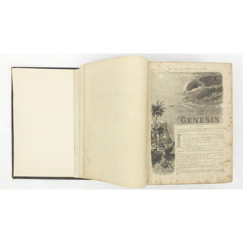 971 - Three antique leather bound books comprising Cassell's Illustrated Family Bible, Bibl Sanctaidd 1779...