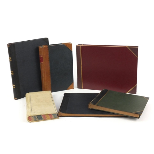 964 - Group of Victorian and later leather bound ledgers...