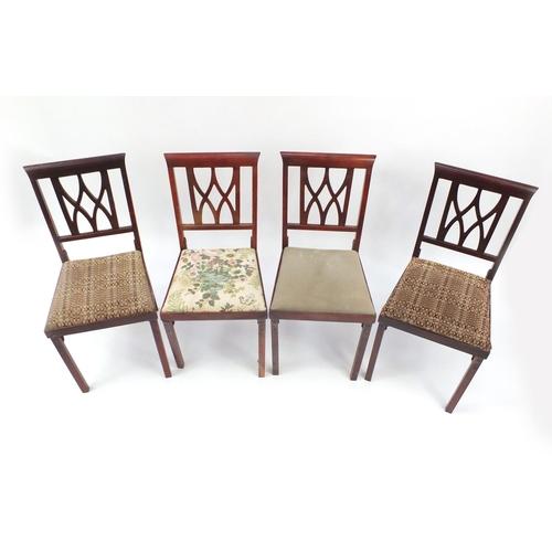 52 - Four vintage Leg-o-Matic folding chairs...