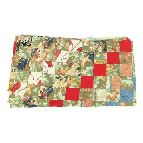 51 - Vintage floral patchwork cover...