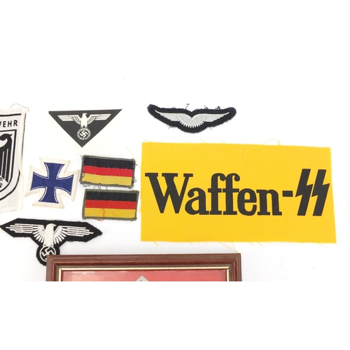 989 - German Military interest items including cloth patches...
