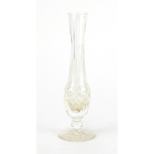 193 - Waterford crystal bud vase, retailed by Harrods, with box,  23.5cm high...