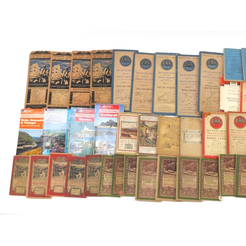 968 - Collection of vintage ordnance survey maps...
