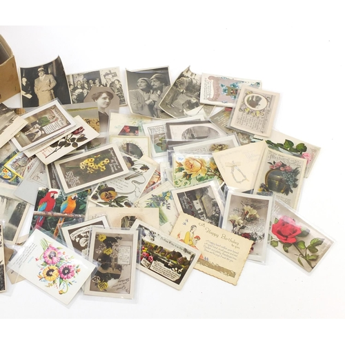 959 - Edwardian and later postcards and greetings cards, some comical and hand coloured...