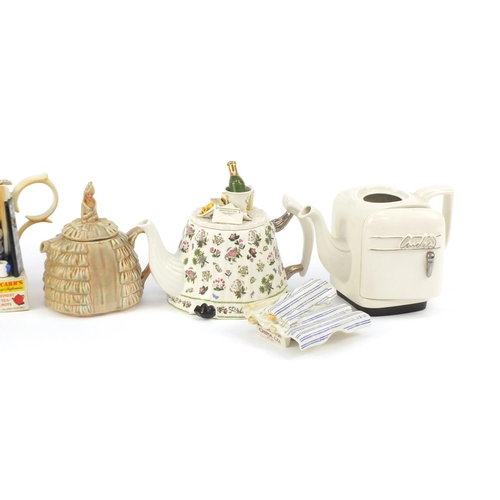 239 - Novelty teapots including Daintee Lady, Portmeirion, Disney Winnie the Pooh and Cardew...