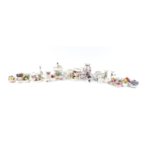 248 - Collectable china including flower posies, Royal Adderley, Royal Worcester, Aynsley and Crown Staffo...