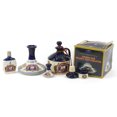 185 - Group of Wade Lord Nelson rum decanters...