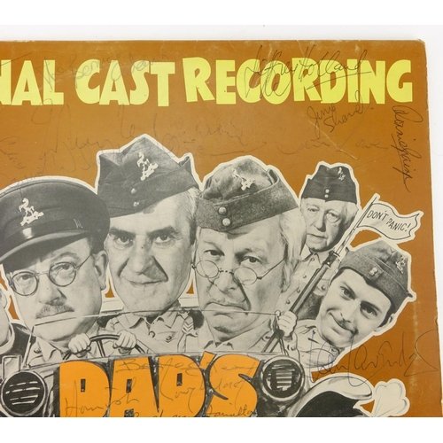 958 - Dad's Army vinyl LP signed by the cast...