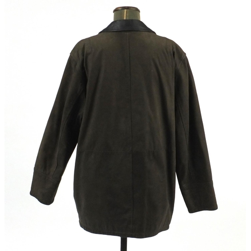 983 - Burberry's leather coat, size 12...